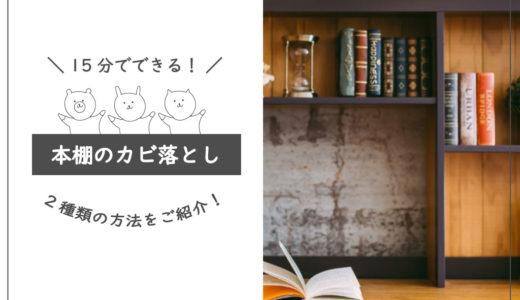 本棚にカビが生えた!落とし方と予防方法を解説!【カビ対策おすすめ用品も】